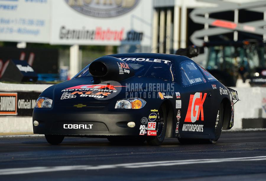 May 4, 2012; Commerce, GA, USA: NHRA pro stock driver Erica Enders during qualifying for the Southern Nationals at Atlanta Dragway. Mandatory Credit: Mark J. Rebilas-