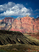 Mountains and clouds in Zion National Park, Utah