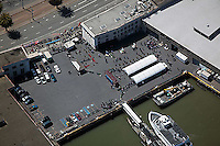 aerial photograph pier San Francisco, California