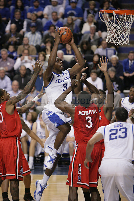 Sophomore forward Terrence Jones goes to the basket during the second half of UK's home game against St. John's at Rupp Arena in Lexington, Ky., Dec. 1, 2011. Photo by Brandon Goodwin