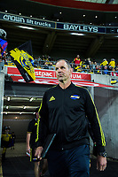 Hurricanes head coach John Plumtree walks out for the Super Rugby match between the Hurricanes and Crusaders at Westpac Stadium in Wellington, New Zealand on Friday, 29 March 2019. Photo: Dave Lintott / lintottphoto.co.nz