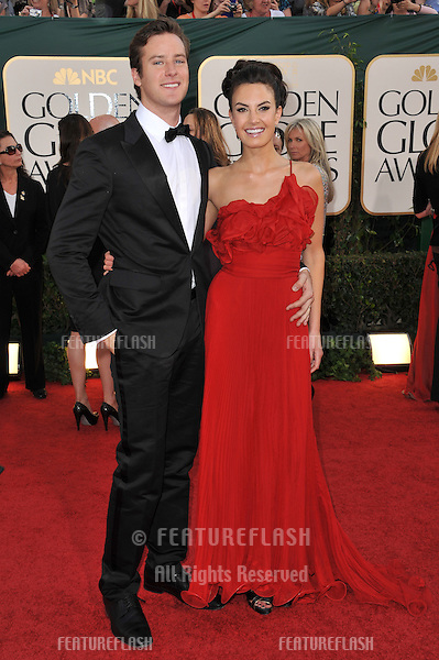 Armie Hammer & Elizabeth Chambers at the 68th Annual Golden Globe Awards at the Beverly Hilton Hotel..January 16, 2011  Beverly Hills, CA.Picture: Paul Smith / Featureflash