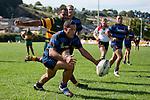 Faumamafa Tuatamai races to ground the ball in the ingoal area ahead of Seremaia Tagicakibau. Counties Manukau Club Rugby game between Pukekohe and Onewhero played at Colin Lawrie Fields Pukekohe on Saturday 19th March 2011..Pukekohe won 37 - 8.