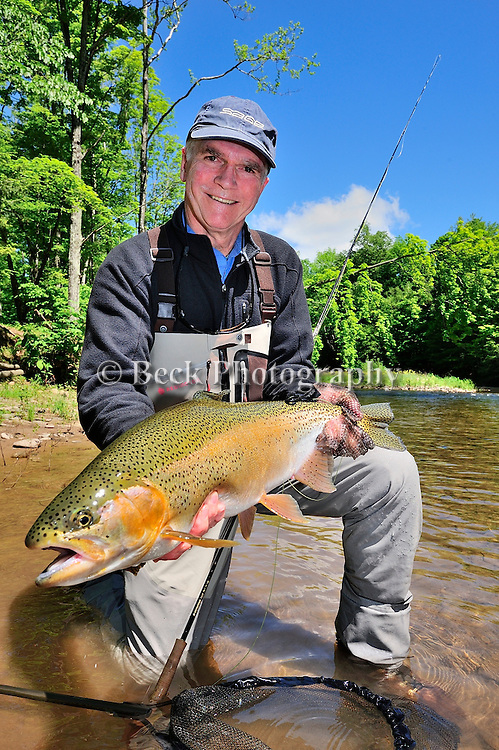 JAY GREEN AND A HUGE RAINBOW TROUT