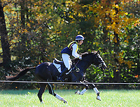 Pirate, with rider Meghan O'Donoghue (USA), competes during the Cross Country test during the Fair Hill International at Fair Hill Natural Resources Area in Fair Hill, Maryland on October 20, 2012.
