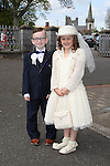 Cian Maher and Amelia Keogh pictured on their communion day.