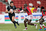 Tone Ng Shiu of New Zealand runs with the ball during the match New Zealand vs Kenya, Day 2 of the HSBC Singapore Rugby Sevens as part of the World Rugby HSBC World Rugby Sevens Series 2016-17 at the National Stadium on 16 April 2017 in Singapore. Photo by Victor Fraile / Power Sport Images