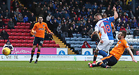 Blackburn Rovers' Adam Armstrong scores his side's second goal <br /> <br /> Photographer Rachel Holborn/CameraSport<br /> <br /> The EFL Sky Bet League One - Blackburn Rovers v Oldham Athletic - Saturday 10th February 2018 - Ewood Park - Blackburn<br /> <br /> World Copyright &copy; 2018 CameraSport. All rights reserved. 43 Linden Ave. Countesthorpe. Leicester. England. LE8 5PG - Tel: +44 (0) 116 277 4147 - admin@camerasport.com - www.camerasport.com