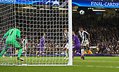 June 3rd 2017, National Stadium of Wales , Wales; UEFA Champions League Final, Juventus FC versus Real Madrid; Kwadwo Asamoah of Juventus heads narrowly wide of the goal