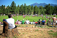 Jul 30, 2008; Flagstaff, AZ, USA; Arizona Cardinals fans look on during training camp on the campus of Northern Arizona University. Mandatory Credit: Mark J. Rebilas-