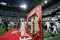 Real Madrid´s players and Barcelona´s players before 2015-16 La Liga match between Real Madrid and Barcelona at Santiago Bernabeu stadium in Madrid, Spain. November 21, 2015. (ALTERPHOTOS/Victor Blanco) /NortePhoto