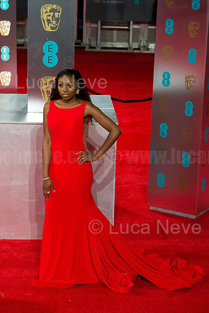 London, 12/02/2017. Red Carpet of the 2017 EE BAFTA (British Academy of Film and Television Arts) Awards Ceremony, held at the Royal Albert Hall in London.<br /> <br /> For more information please click here: http://www.bafta.org/