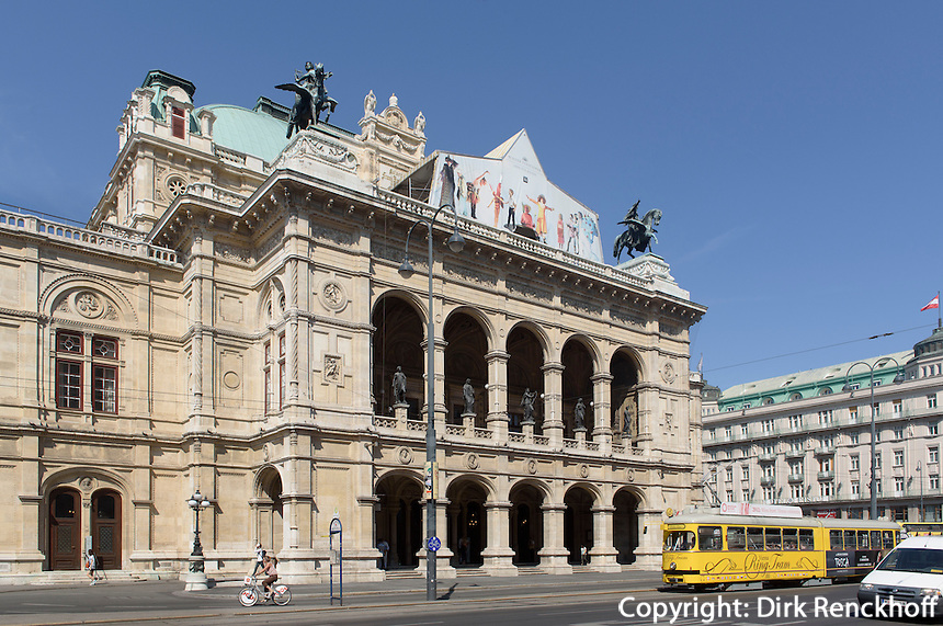 Staatsoper am Opernring, Wien, &Ouml;sterreich, UNESCO-Weltkulturerbe<br /> Opera House at Opernring, Vienna, Austria, world heritage