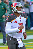 Tampa Bay Buccaneers quarterback Jameis Winston (3) during a National Football League game against the Green Bay Packers on December 2nd, 2017 at Lambeau Field in Green Bay, Wisconsin. Green Bay defeated Tampa Bay 26-20. (Brad Krause/Krause Sports Photography)