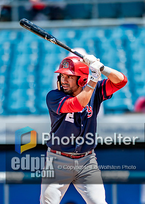 22 July 2018: Louisville Bats infielder Hernan Iribarren in action against the Syracuse SkyChiefs at NBT Bank Stadium in Syracuse, NY. The Bats defeated the Chiefs 3-1 in AAA International League play. Mandatory Credit: Ed Wolfstein Photo *** RAW (NEF) Image File Available ***