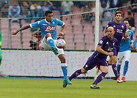 Napoli's Miguel Allan     in action during the Italian Serie A soccer match between SSC Napoli and AC Fiorentina  at San Paolo stadium in Naples,October 18, 2015