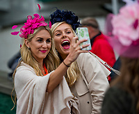 LOUISVILLE, KY - MAY 05: Fans take a selfie on Kentucky Oaks Day at Churchill Downs on May 5, 2017 in Louisville, Kentucky. (Photo by Douglas DeFelice/Eclipse Sportswire/Getty Images)
