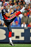 7 September 2008:  Buffalo Bills' punter Brian Moorman in action during a game against the Seattle Seahawks at Ralph Wilson Stadium in Orchard Park, NY. The Bills defeated the Seahawks 34-10 in the season opening game...Mandatory Photo Credit: Ed Wolfstein Photo