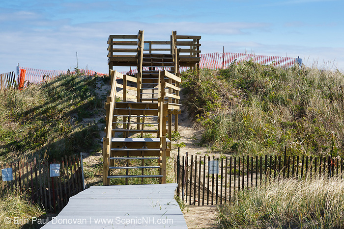 Viewing platform at Parker River National Wildlife Refuge on Plum Island, Massachusetts during the autumn months.