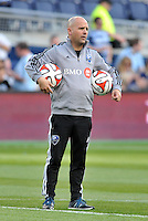 Kansas City, KS. - Saturday, April 19, 2014: Sporting Kansas City defeated the Montreal Impact 4-0 in a Major League Soccer (MLS) game at Sporting Park.