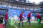 Players of FC Barcelona and Real Madrid enter the pitch prior to the La Liga 2017-18 match between Real Madrid and FC Barcelona at Santiago Bernabeu Stadium on December 23 2017 in Madrid, Spain. Photo by Diego Gonzalez / Power Sport Images
