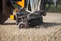 Challenger Rogator applying digestate into rye stubble