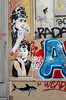 France, Paris, 75011, Graffiti  rue de la Folie Méricourt // France, Paris, Graffiti  rue de la Folie Méricourt