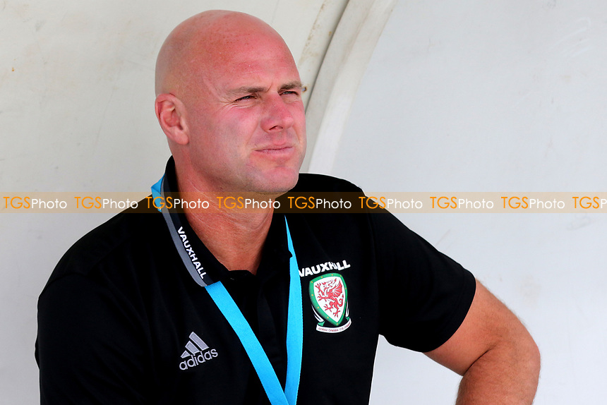 Wales U20 Manager, Rob Page, watches the pre-match warm up during Wales Under-20 vs Ivory Coast Under-20, Toulon Tournament Football at Stade de Lattre-de-Tassigny on 5th June 2017