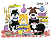 Kate, CUTE ANIMALS, LUSTIGE TIERE, ANIMALITOS DIVERTIDOS, paintings+++++Cats & Dogs page 26,GBKM75,#ac#, EVERYDAY ,cat,cats ,dogs,dog