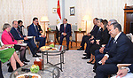 Egyptian President Abdel Fattah al-Sisi meets with German Minister of Economic Cooperation and Development Gerd Mueller in Berlin on June 12, 2017. Photo by Egyptian President Office
