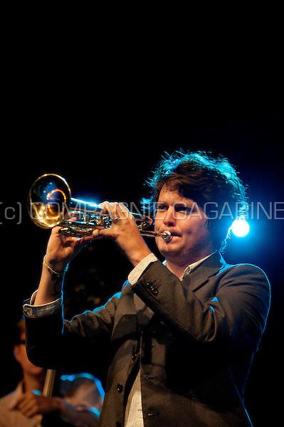 Concert of the American band Beirut at the Rivierenhof in Antwerp (Belgium, 11/08/2010)
