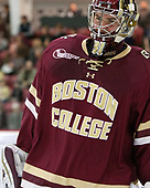 Joe Woll (BC - 31) - The Harvard University Crimson defeated the visiting Boston College Eagles 5-2 on Friday, November 18, 2016, at Bright-Landry Hockey Center in Boston, Massachusetts.{headline] - The Harvard University Crimson defeated the visiting Boston College Eagles 5-2 on Friday, November 18, 2016, at Bright-Landry Hockey Center in Boston, Massachusetts.