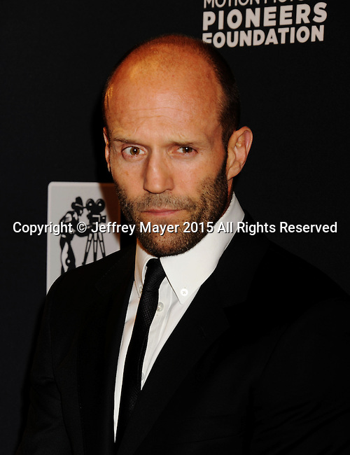 LAS VEGAS, NV - April 22: Actor Jason Statham attends the Pioneer Dinner during 2015 CinemaCon at Caesars Palace on April 22, 2015 in Las Vegas, Nevada.