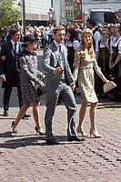 Mariage du Prince Ernst junior de Hanovre et de Ekaterina Malysheva &agrave; l'&eacute;glise Markkirche &agrave; Hanovre.<br /> Allemagne, Hanovre, 8 juillet 2017.<br /> Wedding of Prince Ernst Junior of Hanover and Ekaterina Malysheva at the Markkirche church in Hanover.<br /> Germany, Hanover, 8 july 2017<br /> Pic : Prince Pierre Casiraghi &amp; wife Beatrice Borromeo &amp; Princess Charlotte Casiraghi
