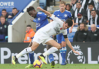 Leicester City's Wilfred Ndidi and Burnley's Jack Cork<br /> <br /> Photographer Rachel Holborn/CameraSport<br /> <br /> The Premier League - Saturday 10th November 2018 - Leicester City v Burnley - King Power Stadium - Leicester<br /> <br /> World Copyright &copy; 2018 CameraSport. All rights reserved. 43 Linden Ave. Countesthorpe. Leicester. England. LE8 5PG - Tel: +44 (0) 116 277 4147 - admin@camerasport.com - www.camerasport.com