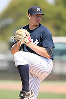 March 17th 2008:  Zach McAllister of the New York Yankees minor league system during Spring Training at Legends Field Complex in Tampa, FL.  Photo by:  Mike Janes/Four Seam Images