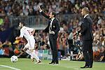 Barcelona's Josep Guardiola and AC Milan's Massimiliano Allegri during Champions League match on september 13th 2011...Photo: Cesar Cebolla / ALFAQUI
