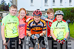 Michael, Hannah, Johnny, Catherine and Ruairi Murphy Scartaglen at the Castleisland Day Care centre cycle on Sunday