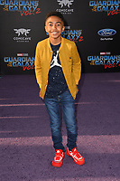 Miles Brown at the world premiere for &quot;Guardians of the Galaxy Vol. 2&quot; at the Dolby Theatre, Hollywood. <br /> Los Angeles, USA 19 April  2017<br /> Picture: Paul Smith/Featureflash/SilverHub 0208 004 5359 sales@silverhubmedia.com