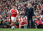 Arsenal's Arsene Wenger watches Alexis Sanchez during the Premier League match at the Emirates Stadium, London. Picture date: April 2nd, 2017. Pic credit should read: David Klein/Sportimage