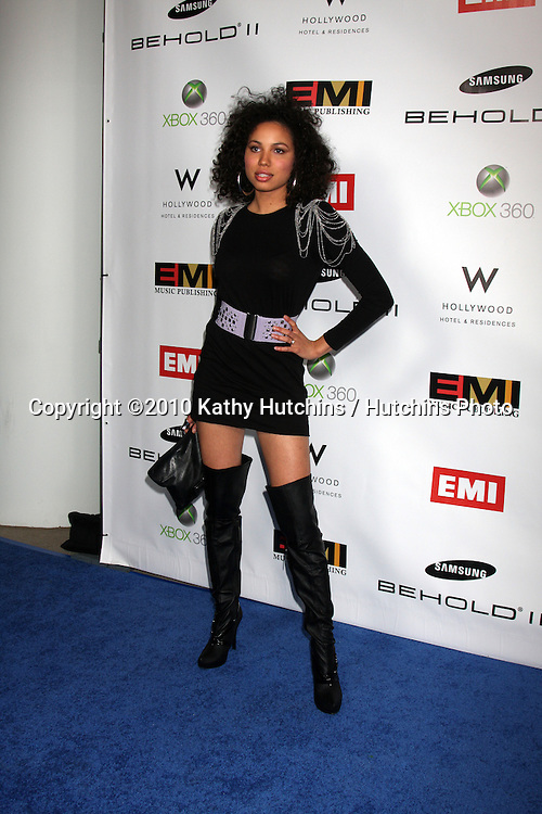 Jurnee Smollett .arriving at the EMI Post Grammy Party 2010.W Hotel Hollwood.Los Angeles, CA.January 31, 2010.©2010 Kathy Hutchins / Hutchins Photo....