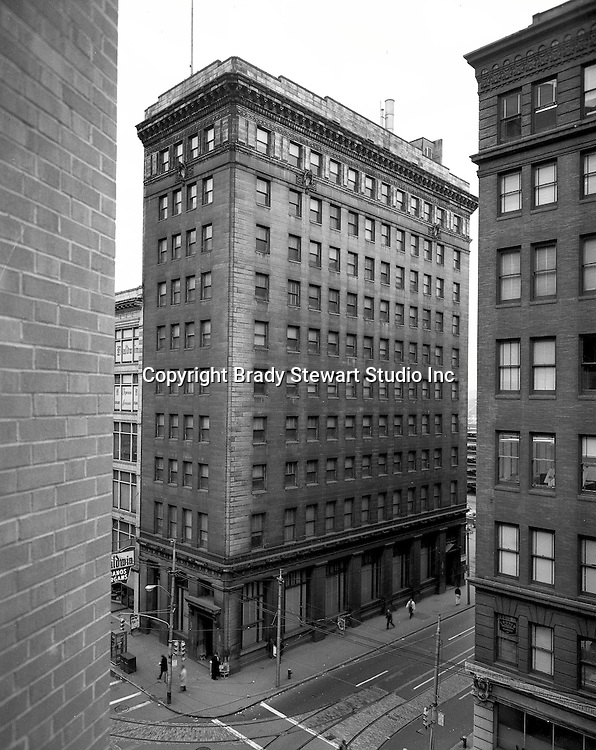Pittsburgh PA:  View of the Victory Building from a building across Liberty Avenue -  1966
