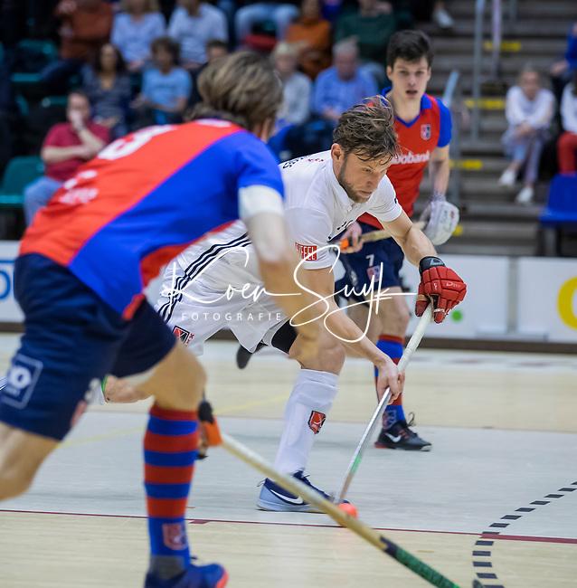 ROTTERDAM  - NK Zaalhockey . finale heren: SCHC-Amsterdam (2-2, SCHC wint shoot-outs) . Robert Tigges (a'dam) .  COPYRIGHT KOEN SUYK
