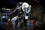 Visitors at the California State Railroad Museum in Sacramento, California.