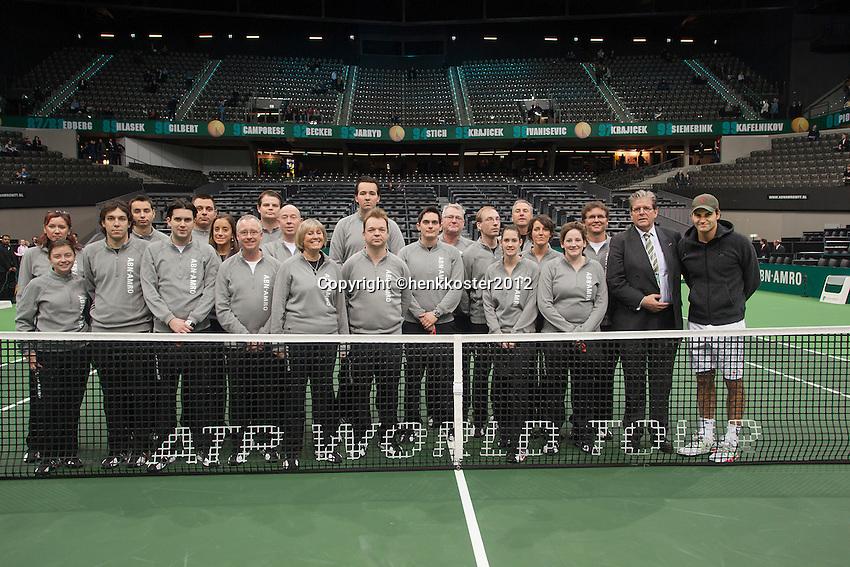 19-02-12, Netherlands,Tennis, Rotterdam, ABNAMRO WTT, Scheidsrechters