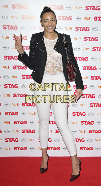 LONDON, ENGLAND - MARCH 13: Amal Fashanu attends the &quot;The Stag&quot; gala film screening, Vue West End cinema, Leicester Square, on Thursday March 13, 2014 in London, England, UK.<br /> CAP/CAN<br /> &copy;Can Nguyen/Capital Pictures