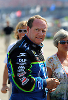 Oct 4, 2008; Talladega, AL, USA; NASCAR Sprint Cup Series driver Ken Schrader during qualifying for the Amp Energy 500 at the Talladega Superspeedway. Mandatory Credit: Mark J. Rebilas-