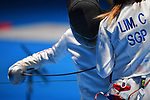 Shiori Komata (JPN), <br /> AUGUST 21, 2018 - Fencing : Women's Individual Epee at Jakarta Convention Center Cendrawasih during the 2018 Jakarta Palembang Asian Games in Jakarta, Indonesia. <br /> (Photo by MATSUO.K/AFLO SPORT)
