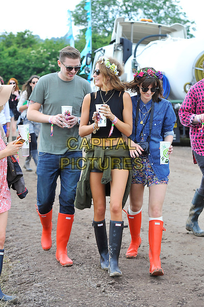 Professor Green, Millie Mackintosh &amp; friend <br />