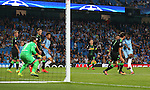 Kelechi Iheanacho of Manchester City scores the fourth goal during the UEFA Champions League Group C match at The Etihad Stadium, Manchester. Picture date: September 14th, 2016. Pic Simon Bellis/Sportimage